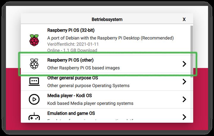 Raspi-Imager - OS wählen 2